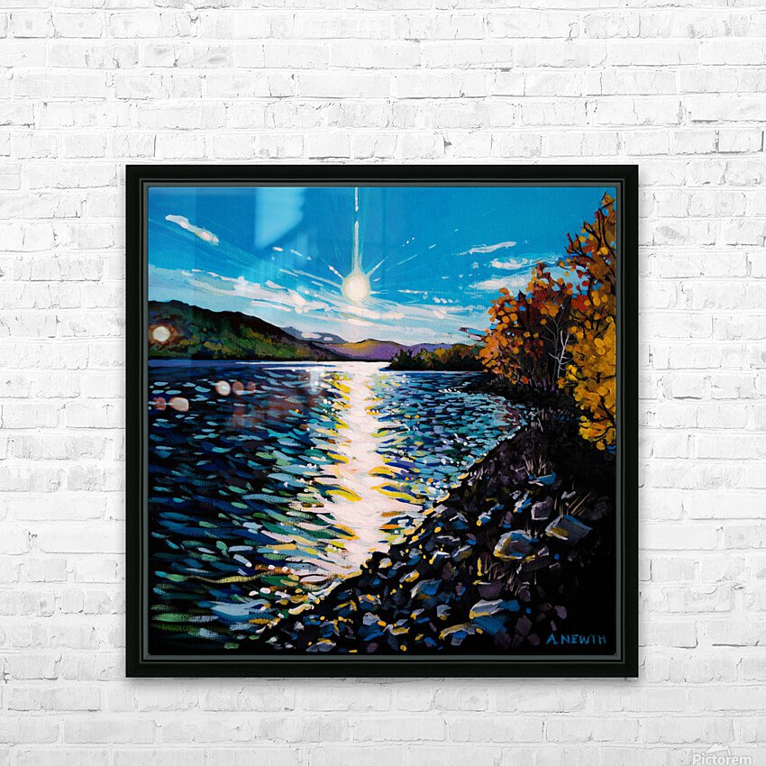 Moberly Lake HD Sublimation Metal print with Decorating Float Frame (BOX)