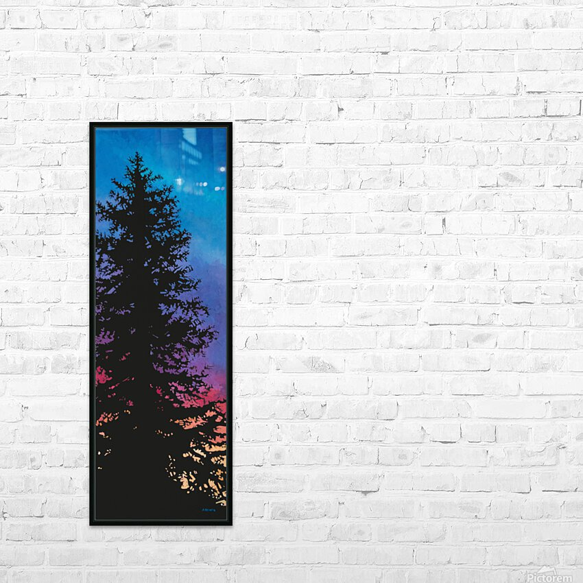 Coucher De Soleil Nord HD Sublimation Metal print with Decorating Float Frame (BOX)