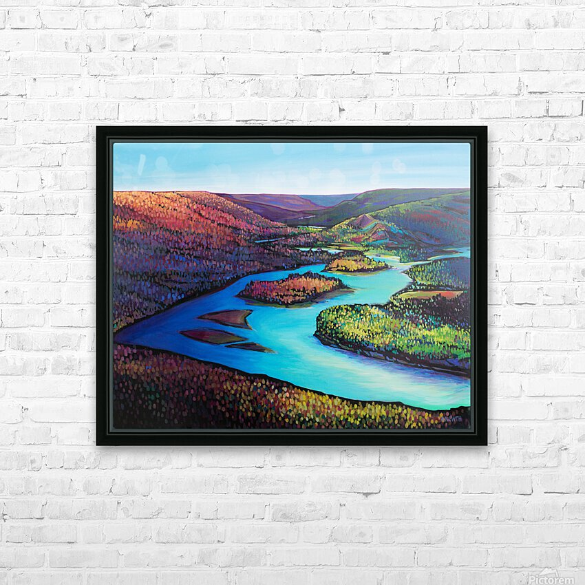 Fall Arrives at Peace River HD Sublimation Metal print with Decorating Float Frame (BOX)