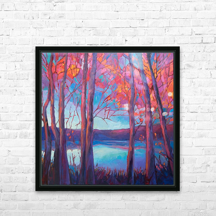 Autumn at the Lake HD Sublimation Metal print with Decorating Float Frame (BOX)