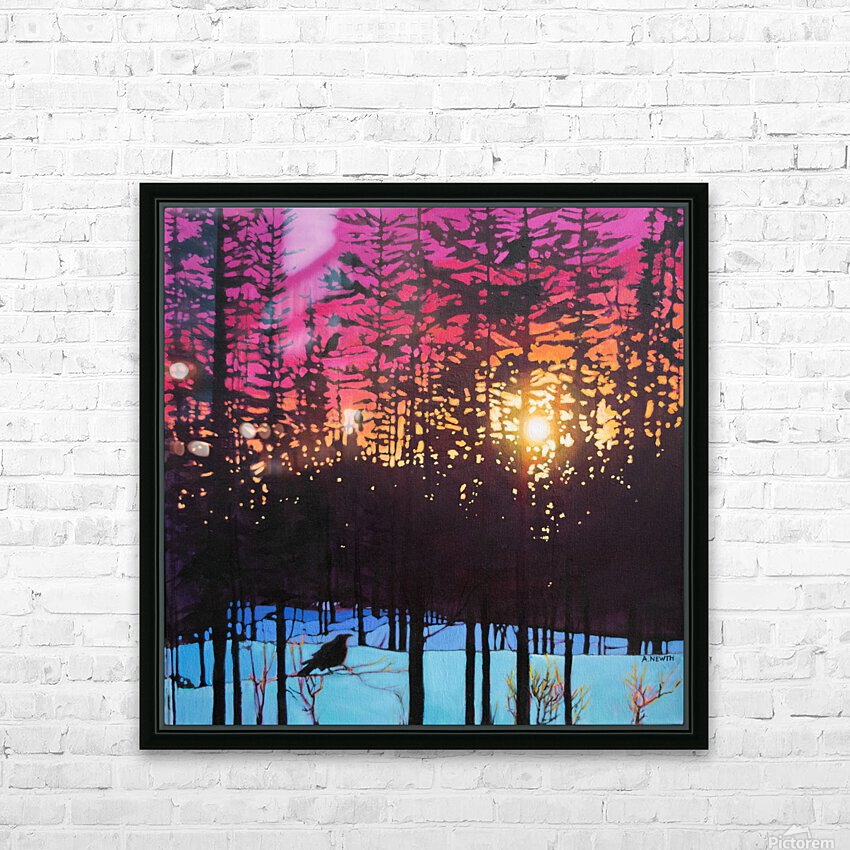 Crows at Sunset HD Sublimation Metal print with Decorating Float Frame (BOX)
