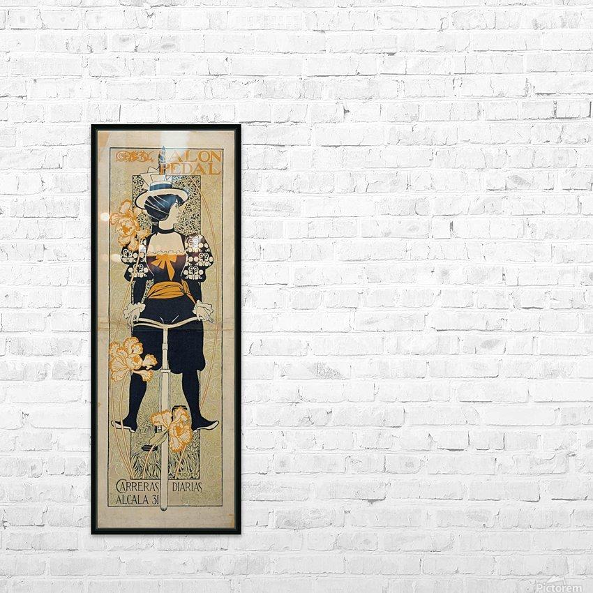 Alexandre de Riquer - Salon Pedal HD Sublimation Metal print with Decorating Float Frame (BOX)