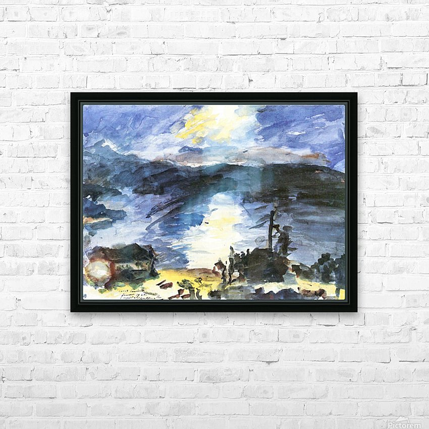 Walchensee -4- by Lovis Corinth HD Sublimation Metal print with Decorating Float Frame (BOX)
