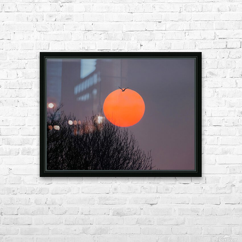 Sunrise lever de soleil HD Sublimation Metal print with Decorating Float Frame (BOX)