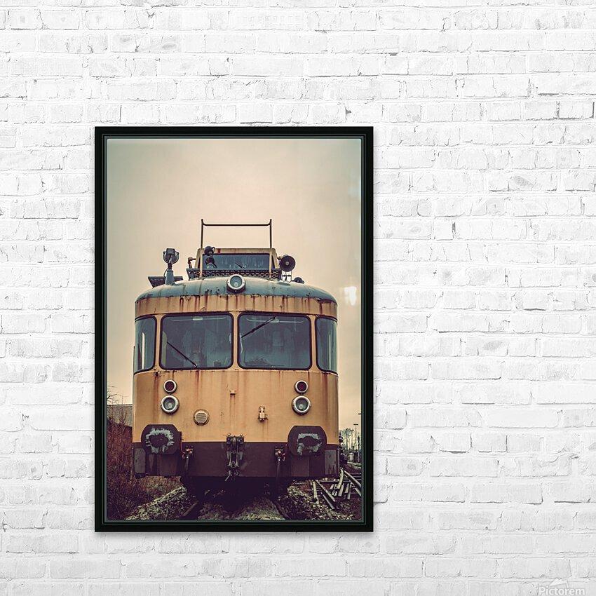 Junkyard train HD Sublimation Metal print with Decorating Float Frame (BOX)