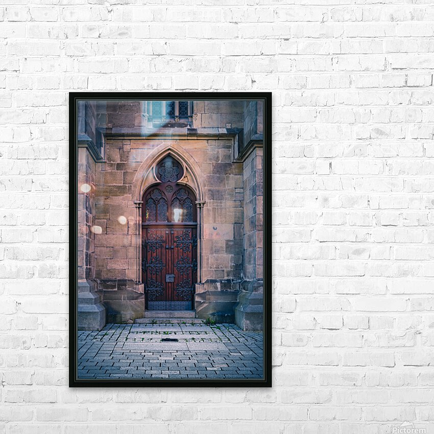 Gothic entrance HD Sublimation Metal print with Decorating Float Frame (BOX)