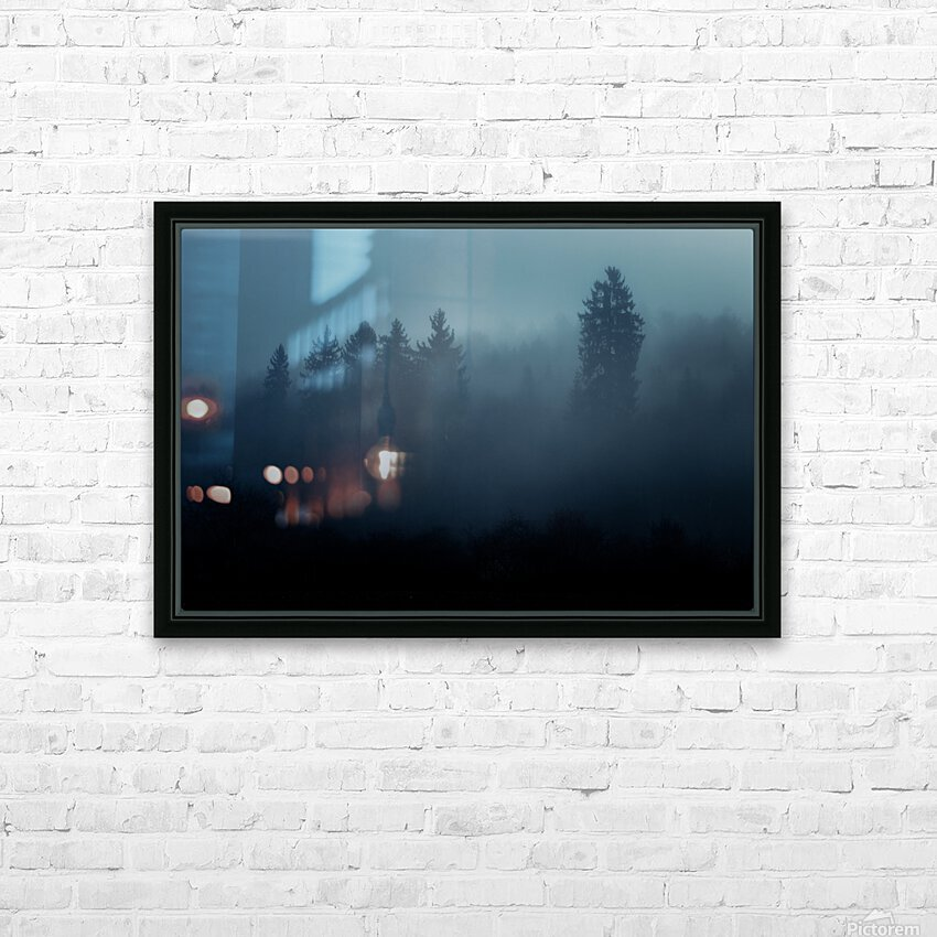 Foggy forest HD Sublimation Metal print with Decorating Float Frame (BOX)