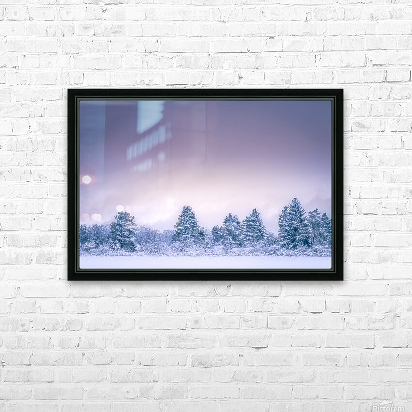 Winter landscape HD Sublimation Metal print with Decorating Float Frame (BOX)