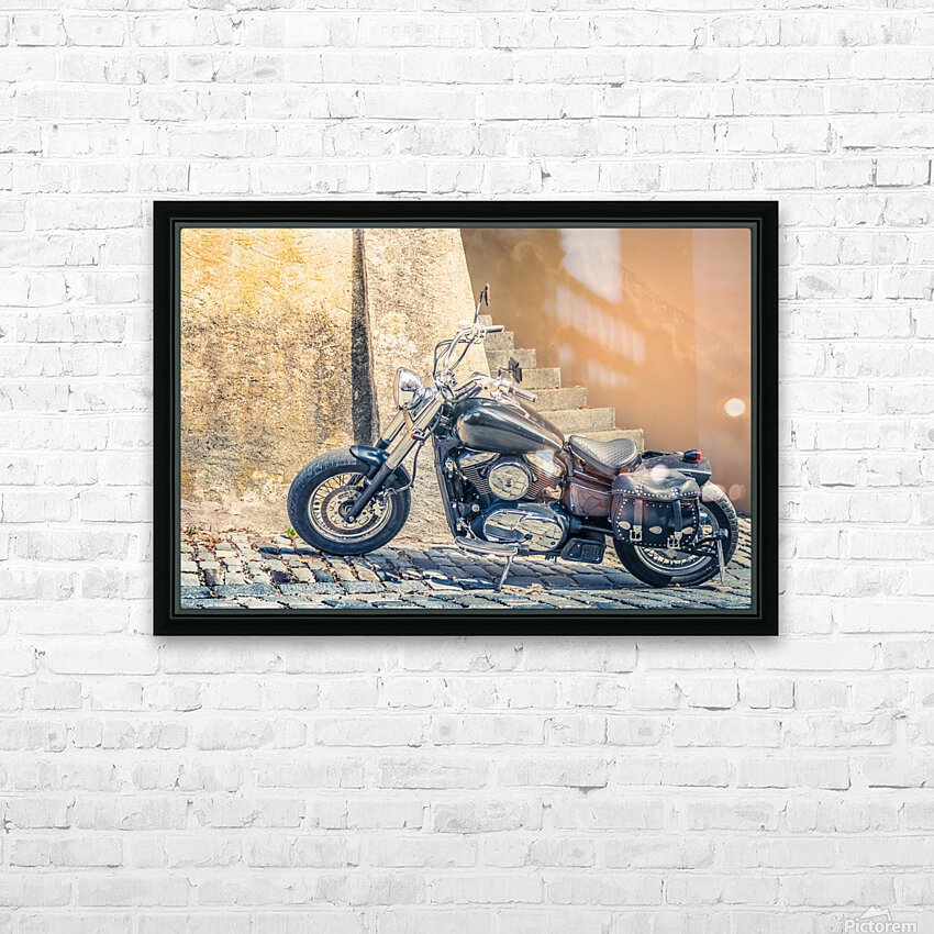 Chopper cruiser motorbike HD Sublimation Metal print with Decorating Float Frame (BOX)