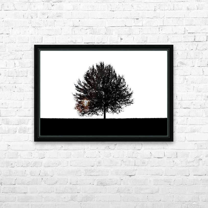 Silhouette of a lonely tree HD Sublimation Metal print with Decorating Float Frame (BOX)