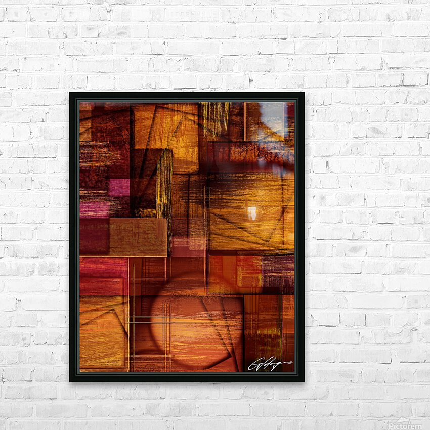 ABSTRACT-1512 Integration HD Sublimation Metal print with Decorating Float Frame (BOX)
