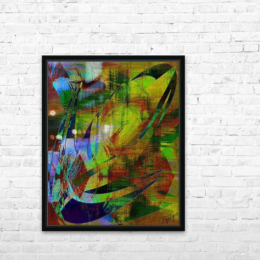 ABSTRACT-1007 SPATIAL HD Sublimation Metal print with Decorating Float Frame (BOX)