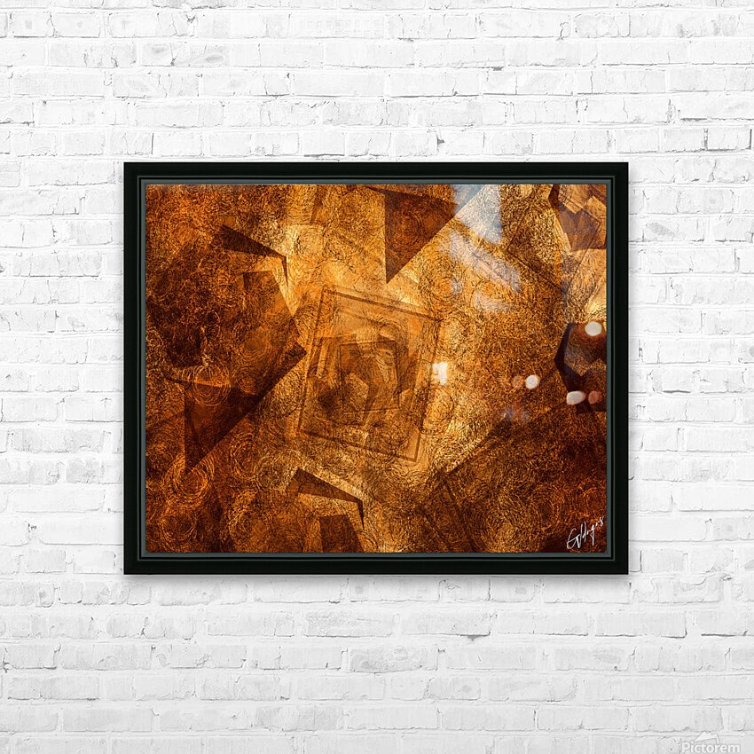 ABSTRACT-1008 Sociability HD Sublimation Metal print with Decorating Float Frame (BOX)