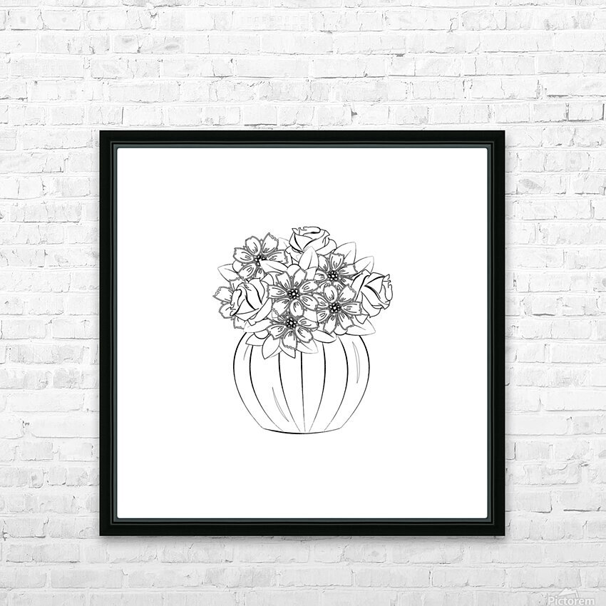 Flower bouquet  HD Sublimation Metal print with Decorating Float Frame (BOX)