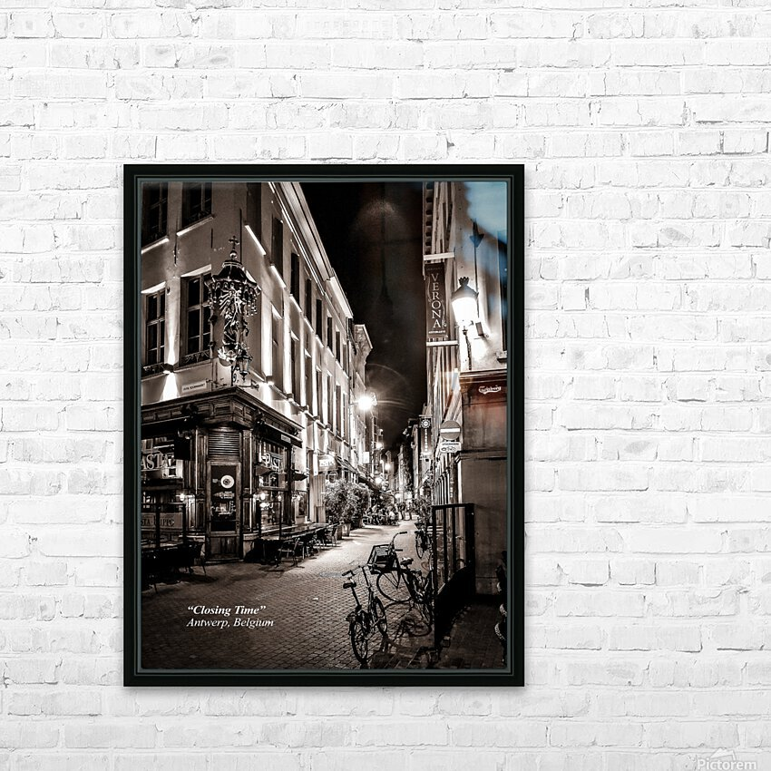 Closing Time HD Sublimation Metal print with Decorating Float Frame (BOX)