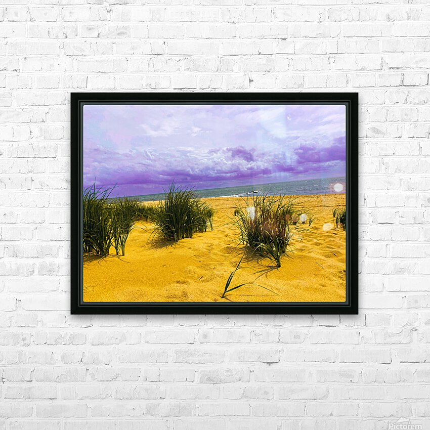 Dunes at Cape May HD Sublimation Metal print with Decorating Float Frame (BOX)