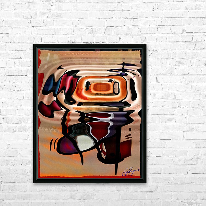 ABSTRACTO-2002 Drainage HD Sublimation Metal print with Decorating Float Frame (BOX)