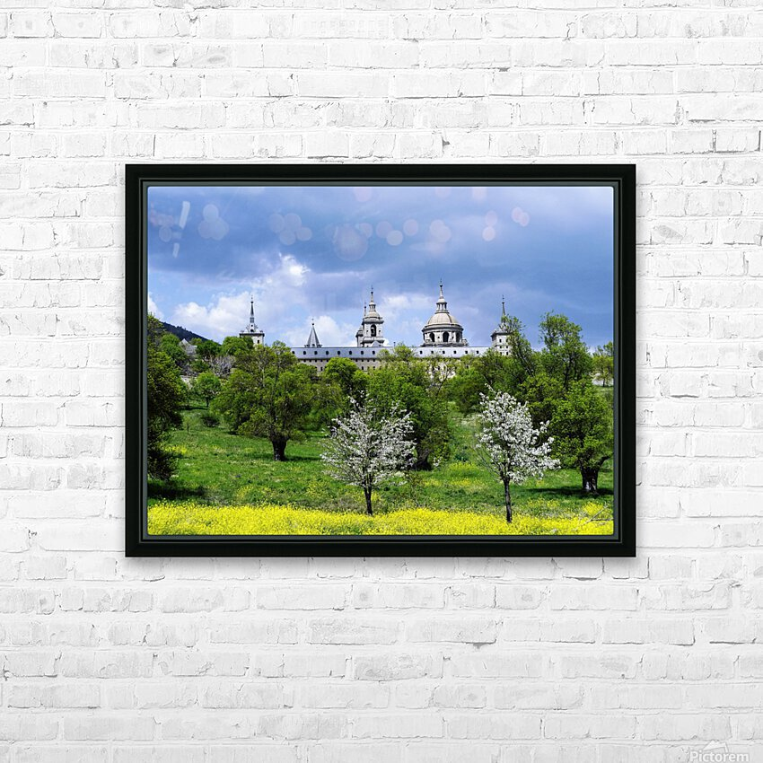 Casita del Principe 5 of 7 - Park and Gardens - The Royal Monastery of San Lorenzo de El Escorial - Madrid Spain HD Sublimation Metal print with Decorating Float Frame (BOX)