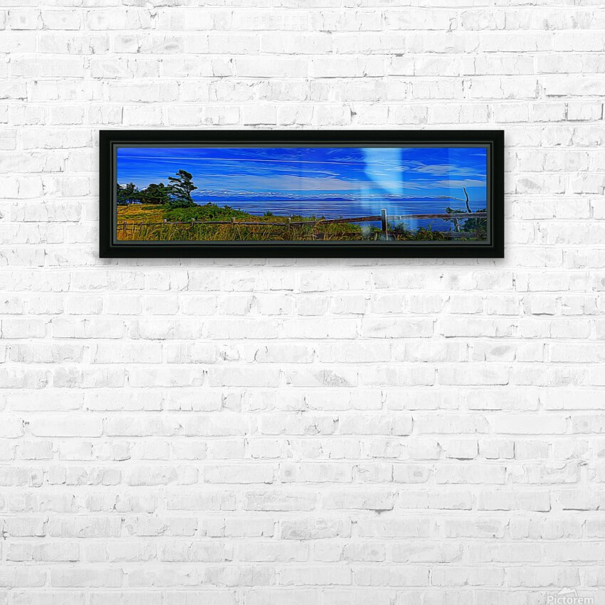 View from Cape Lazo HD Sublimation Metal print with Decorating Float Frame (BOX)