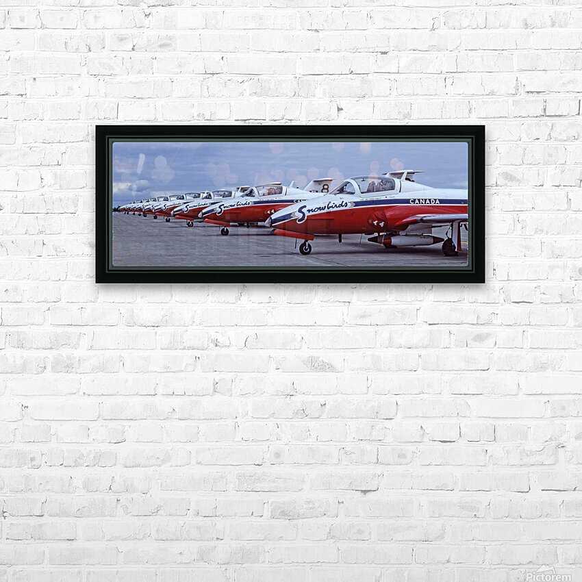 Snowbirds Between Shows HD Sublimation Metal print with Decorating Float Frame (BOX)