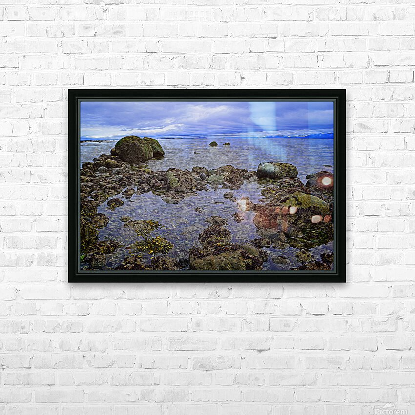 Tranquility at Low Tide HD Sublimation Metal print with Decorating Float Frame (BOX)