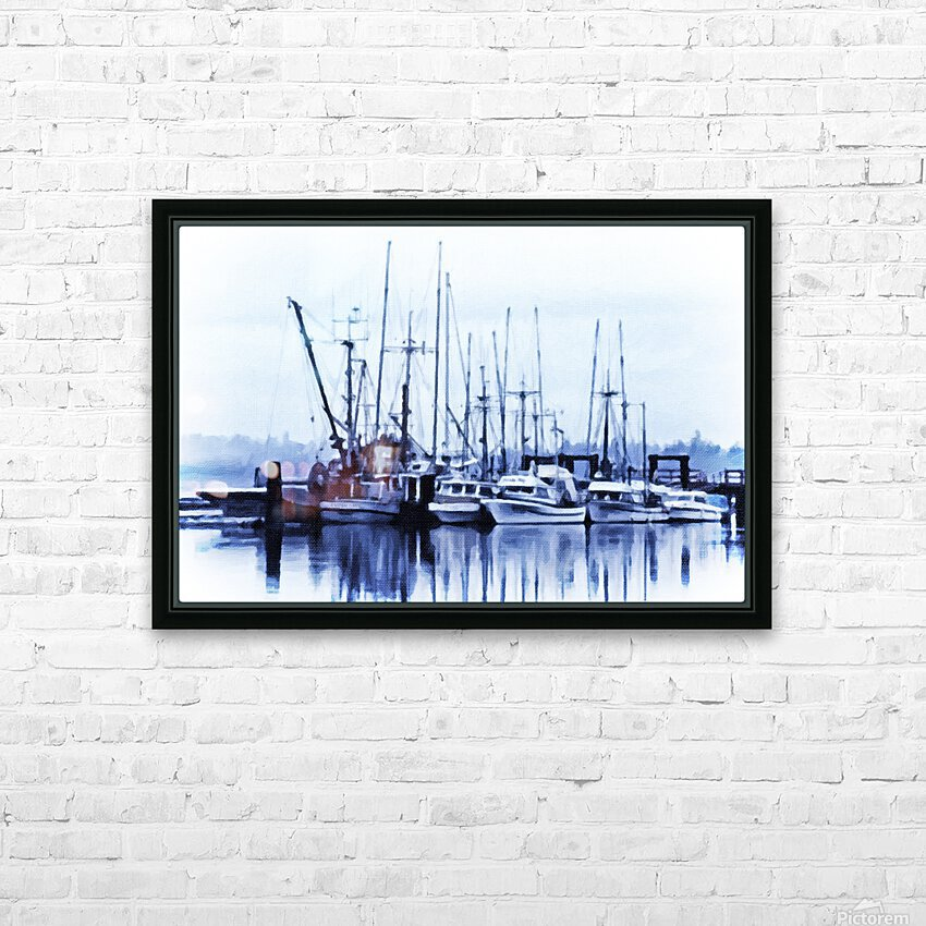 Fishers Wharf HD Sublimation Metal print with Decorating Float Frame (BOX)