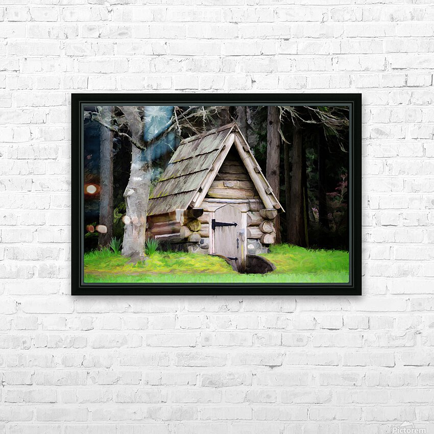 Old Root House HD Sublimation Metal print with Decorating Float Frame (BOX)