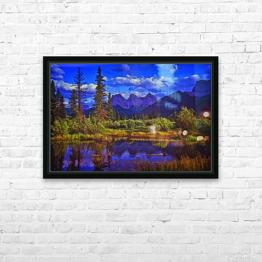 Three Sisters Peaks HD Sublimation Metal print with Decorating Float Frame (BOX)