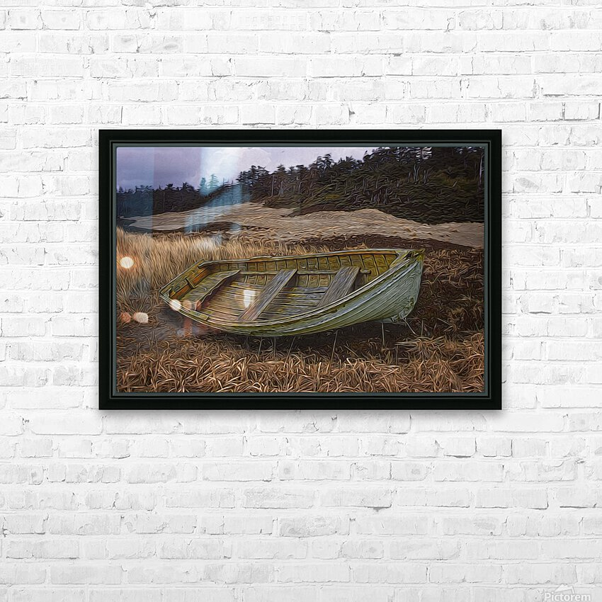 Clinker-built Rowboat HD Sublimation Metal print with Decorating Float Frame (BOX)