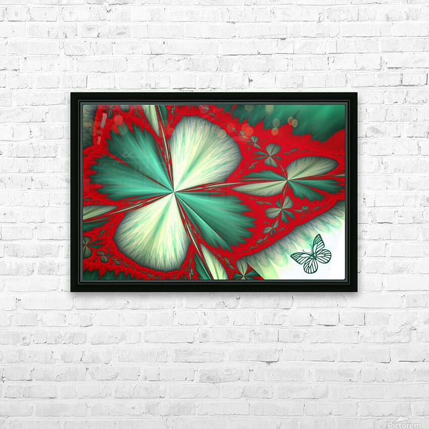 Shamrock and Butterfly HD Sublimation Metal print with Decorating Float Frame (BOX)
