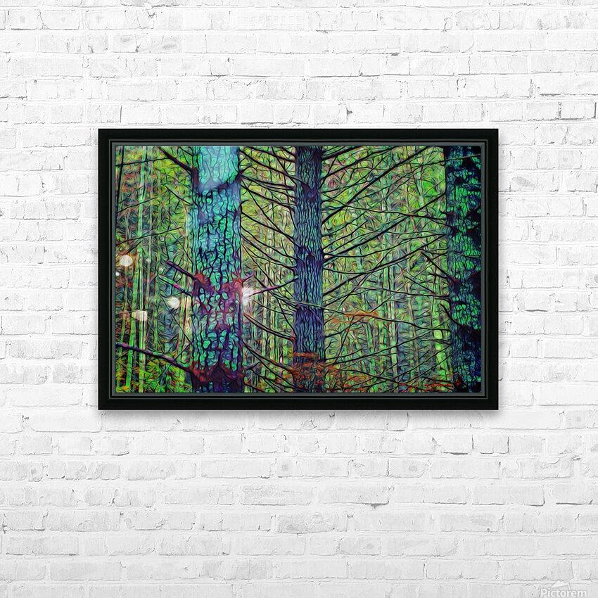 Forest Splendor HD Sublimation Metal print with Decorating Float Frame (BOX)