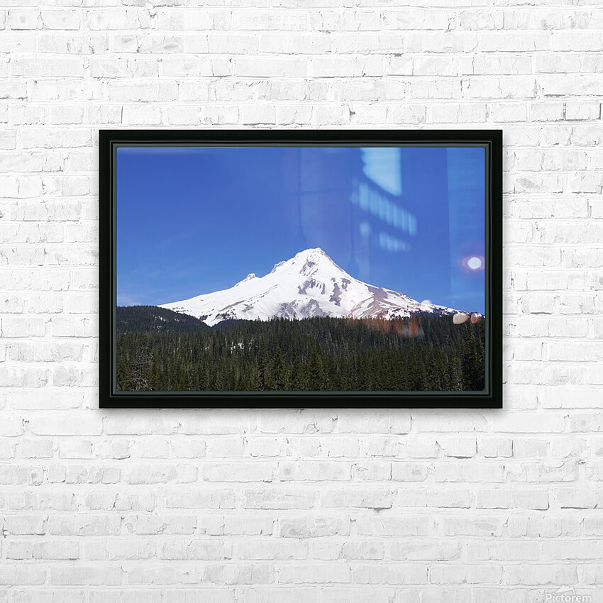 Blue Skies over Mount Hood HD Sublimation Metal print with Decorating Float Frame (BOX)