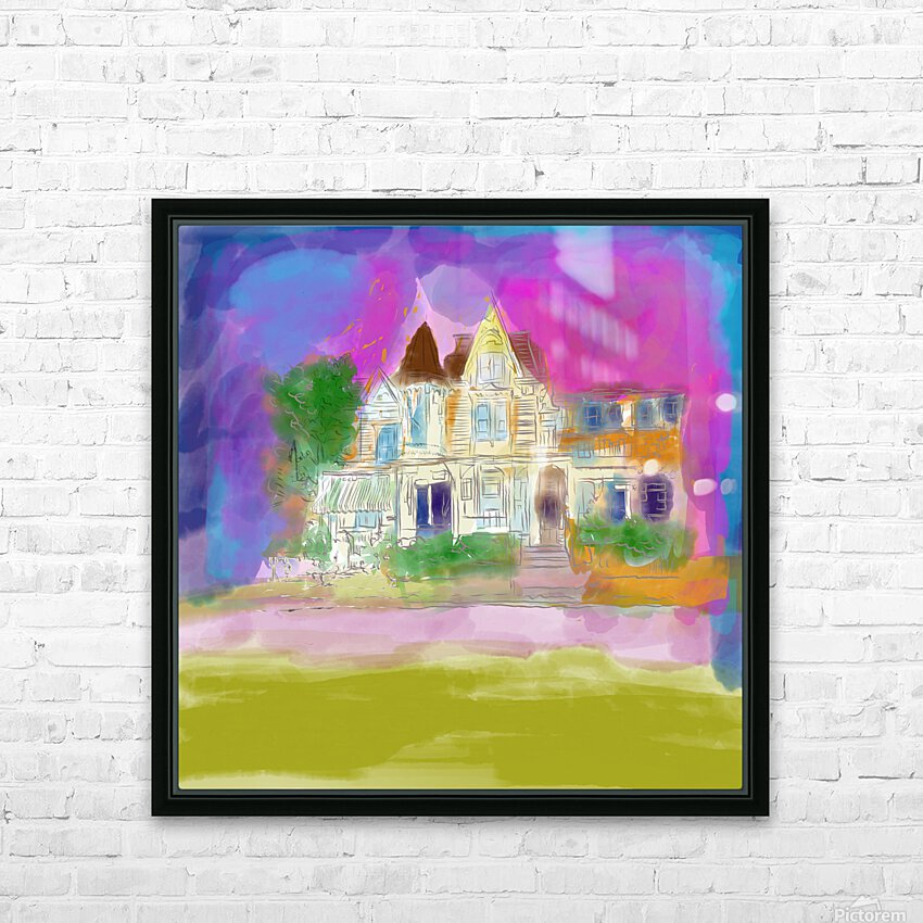 Victorian House at Cape May HD Sublimation Metal print with Decorating Float Frame (BOX)