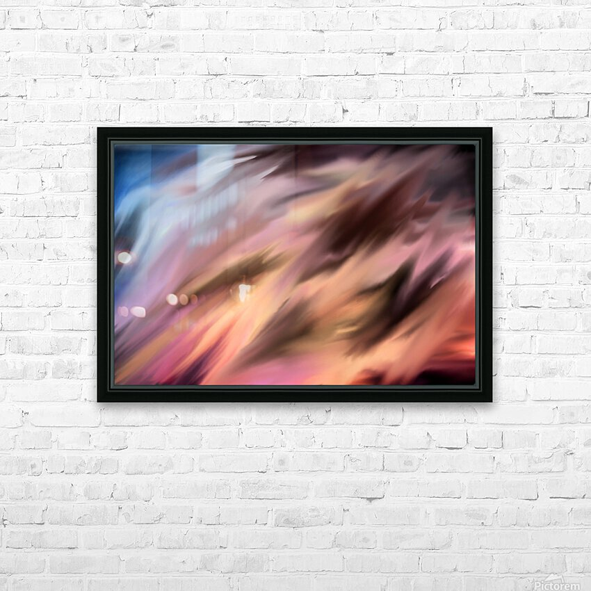 Turbulence HD Sublimation Metal print with Decorating Float Frame (BOX)