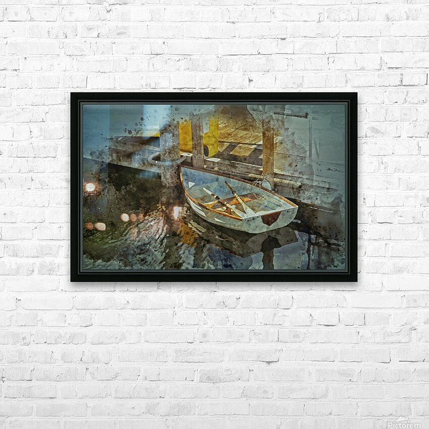 Rowboat HD Sublimation Metal print with Decorating Float Frame (BOX)
