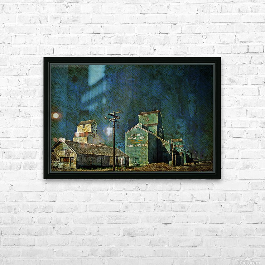 Wheat Pool HD Sublimation Metal print with Decorating Float Frame (BOX)