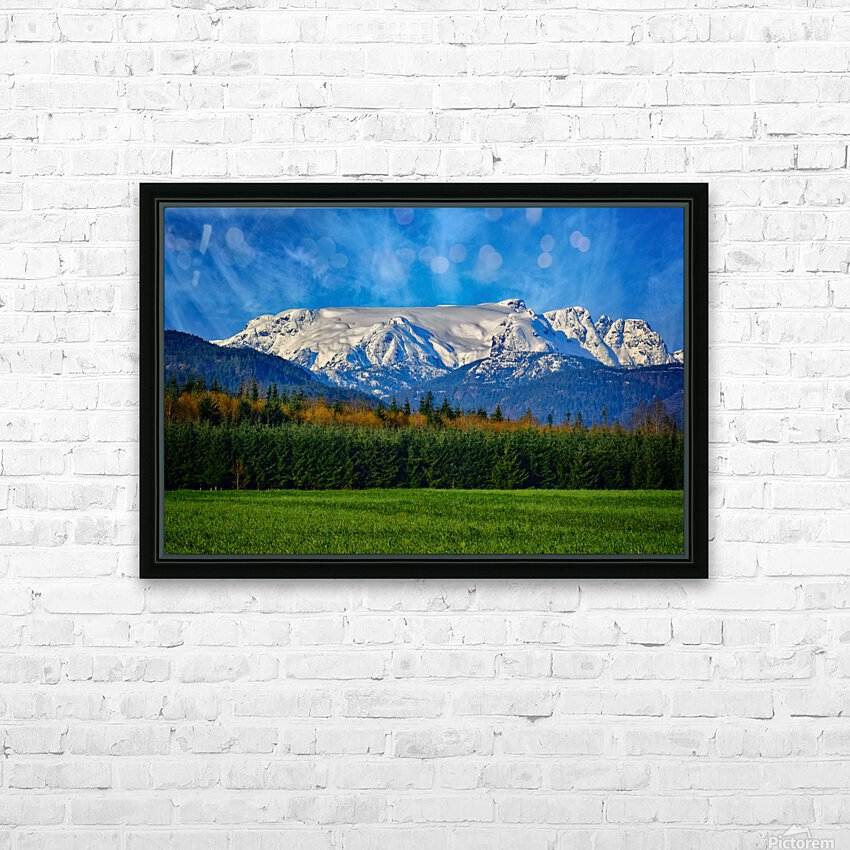 Comox Glacier in Early Spring HD Sublimation Metal print with Decorating Float Frame (BOX)