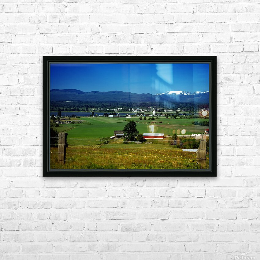 Comox Valley Thirty Years Ago HD Sublimation Metal print with Decorating Float Frame (BOX)