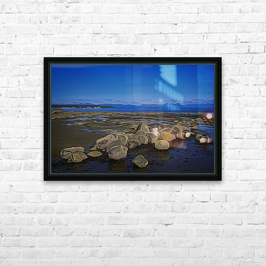Boulders at Low Tide HD Sublimation Metal print with Decorating Float Frame (BOX)