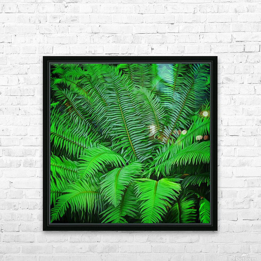 Just Ferns HD Sublimation Metal print with Decorating Float Frame (BOX)