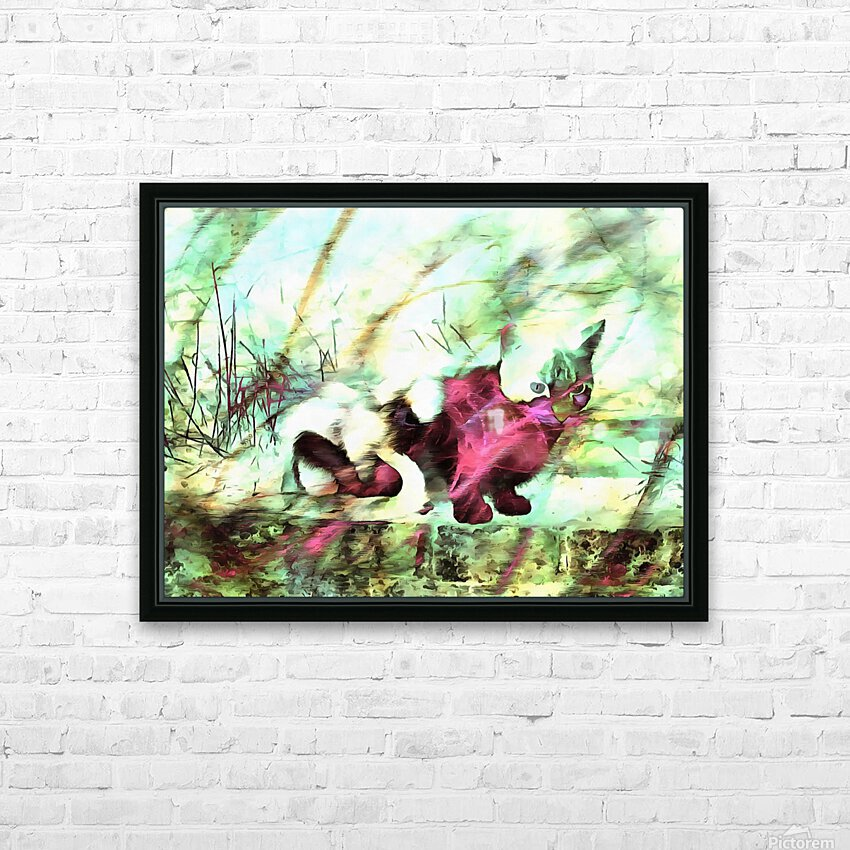 Cat Spirit HD Sublimation Metal print with Decorating Float Frame (BOX)