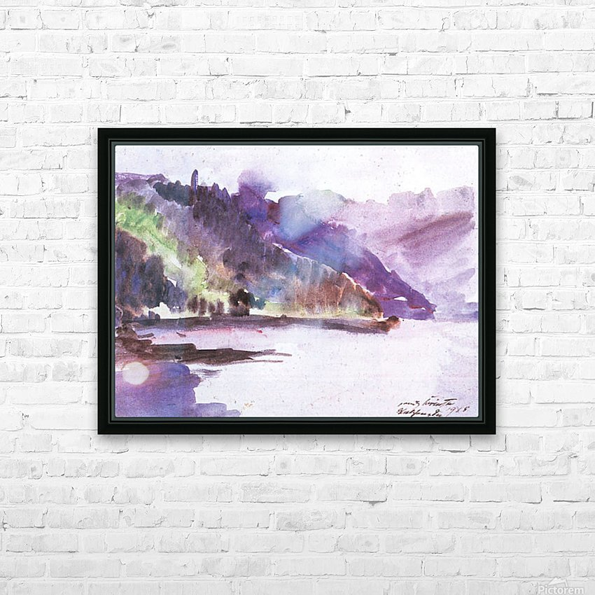 Walchensee -6- by Lovis Corinth HD Sublimation Metal print with Decorating Float Frame (BOX)