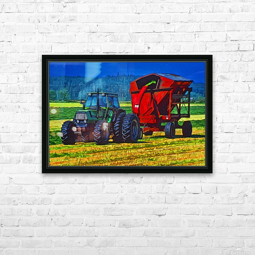 Making Hay HD Sublimation Metal print with Decorating Float Frame (BOX)