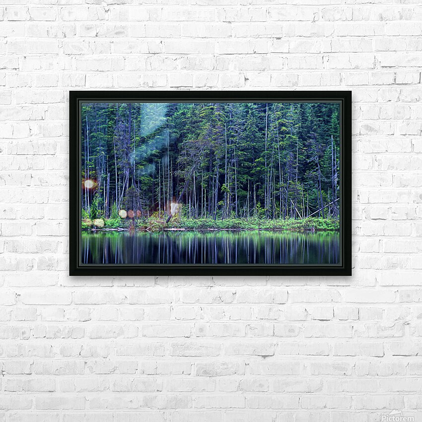 Forest by the Lake HD Sublimation Metal print with Decorating Float Frame (BOX)