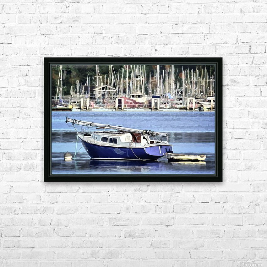 Resting in the Harbor HD Sublimation Metal print with Decorating Float Frame (BOX)