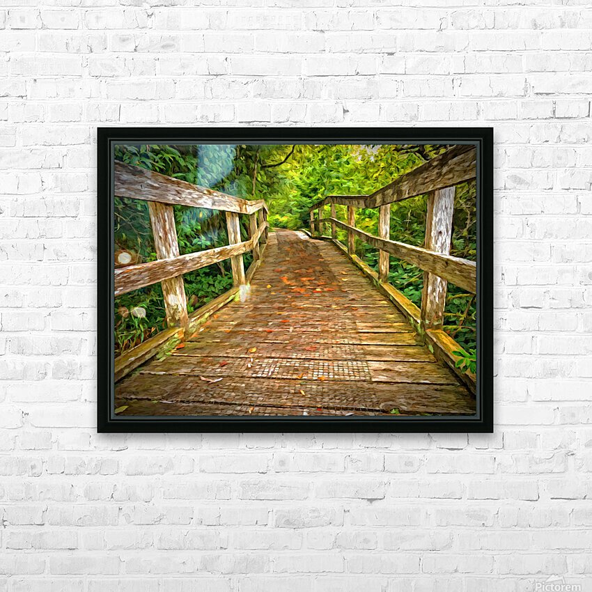Bridge in the Sanctuary HD Sublimation Metal print with Decorating Float Frame (BOX)