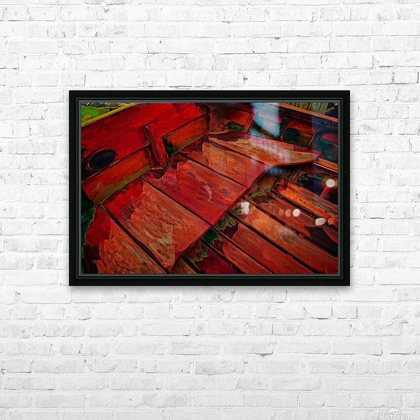 Rowboat Abstract HD Sublimation Metal print with Decorating Float Frame (BOX)