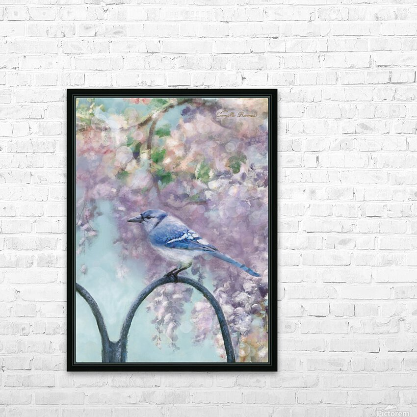 Garden bird HD Sublimation Metal print with Decorating Float Frame (BOX)