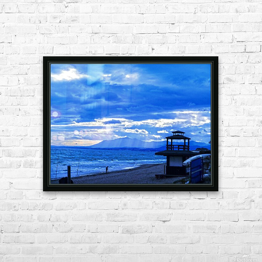 Gone Fishing  Costa Del Sol  Spain 1 of 2 HD Sublimation Metal print with Decorating Float Frame (BOX)
