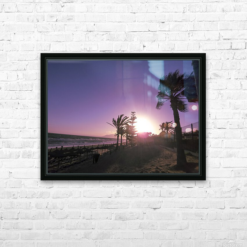 Sunset   Costa Del Sol   Andalusia Spain HD Sublimation Metal print with Decorating Float Frame (BOX)